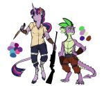 Infected!AU: Twilight and Spike by Earthsong9405