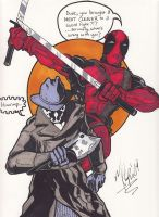 Rorschach and Deadpool by MChampion