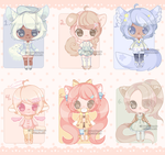 Set Price :: Fluffer Butts [ 2/6 OPEN ] by Devi-Adopts