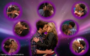 Seddie Kisses Wallpaper by iHeartArts