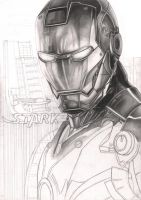 'Iron Man' WIP 35% complete by Pen-Tacular-Artist