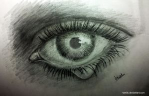 Realistic Eye with Teardrop by hanitk