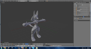 WIP 2 Lucario by PhiliChez