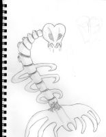 Skeleton Creature thingy by E2x7u