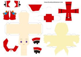 papercraft Xmas Finland by Furesia