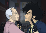 Clint Eastwood vs Spike by sykoeent