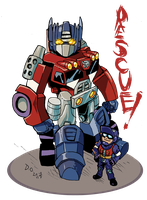 Rescuebots Optimus Prime by weremole
