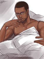 a gentleman who is reading a paper :3 by zzingne