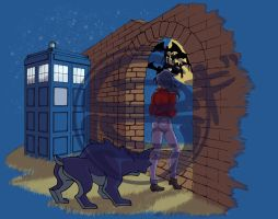 071313 Elisa and the TARDIS by GillyPerkyGoth