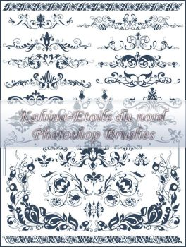 ornamental brushes set 4 by Etoile-du-nord