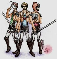 Cry, Pewds and Ken SNK by pinkdog004