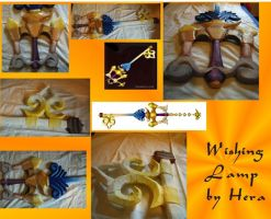 Keyblade Collage- Wishing Lamp by Nalasan