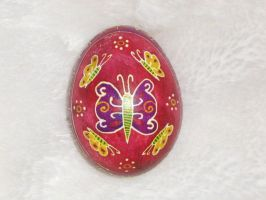 Butterfly Pysanka Easter Egg by indystdnt