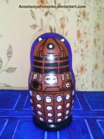 Matryoshka Dalek - Doctor Who nesting doll by AnastasiyaKosenko