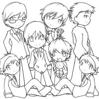 Ouran Lineart by DigitalYoshi