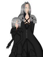 Sephiroth and Kadaj COMMISSION by TaiyoTsuki5000
