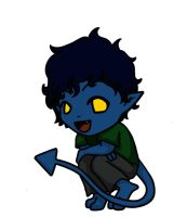 Chibi Nightcrawler by QwikSylverShadows