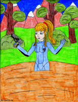 Zero Suit Samus in Quicksand (Request) by GreenDayLuigi