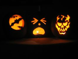 Carved Pumpkins One by Stirk-Bostaurus