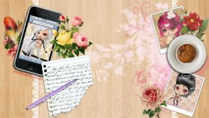 Blogger table background by Seraphoid