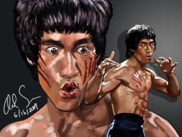 Bruce Lee - Enter the Dragon by osx-mkx