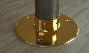 Floor Flange With Wood Screws by LuxXeon