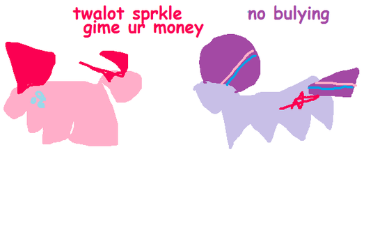 Thief!Pinkie and Victim!Twilight by mspaintmasterpieces