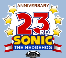 Sonic's 23rd Anniversay (2014) - Fanmade Logo by MarkProductions