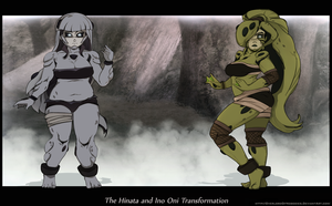 The Hinata and Ino Oni Transformation III by Chronorin