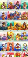 Sketchcard SF alpha collection by fedde