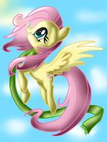 Fluttershy in a cold day by MarshmallowWithChoco