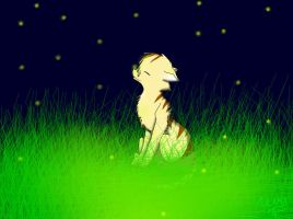 Leafpelt with the Fireflies by MY-SUiCiDAL-STRETCH