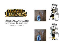 LoL: Ashe and Volibear Keychain by Beautiful-Dreamer602