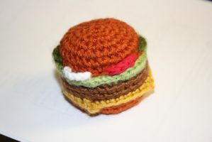 Cheeseburger Cat Toy by Silvermoose