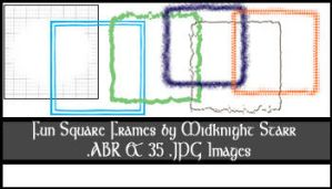 Fun Square Frames by MidknightStarr