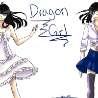 Dragon Girl by Silene-Nocturna