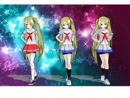 Updated Natsumi models by Rozz-a
