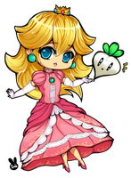 Smash Bros Chibi Peach by XHolyKnightAgrias