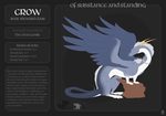 Of Substance and Standing: Crow by baliwik