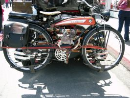 J C Higgins bicycle and motor by RoadTripDog