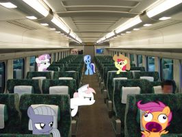 Fillies on a bus by negima56