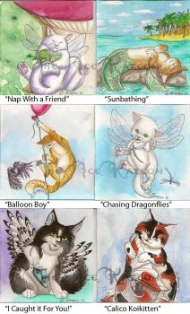 Whimsical Kittens chunky pages by The-IceKat