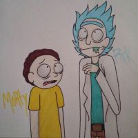 Rick and Morty by SpittingOutThaDemonz