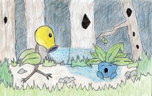 Bellsprout uses Sleep Powder by The-Vodun