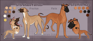 STS Dogs- Farja and Fraction by ShockTherapyStables