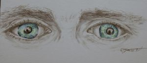 Hiddleston's eyes (colour) by Xanthiya
