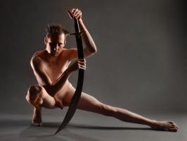 5964-CW Male Nude With Sword by artonline