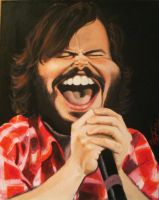 Jack Black caricature by drawmyface