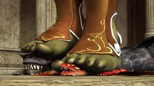 Orcish feet on 2 dragons by Drangu-Shur