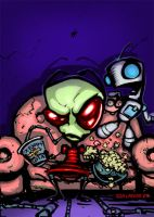 ZIM and Gir...T.V. nite by jonlarkins